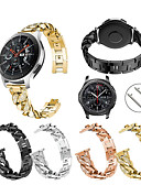 billige Smartwatch Bands-Klokkerem til Gear S3 Frontier / Gear S3 Classic / Samsung Galaxy Watch 46 Samsung Galaxy Sportsrem Rustfritt stål Håndleddsrem