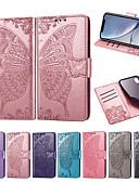 billige Etuier/deksler til Huawei-Etui Til Huawei P smart / Huawei P Smart Plus / Huawei Honor 9 Lite Lommebok / Kortholder / med stativ Heldekkende etui Sommerfugl / Blomsternål i krystall Myk PU Leather