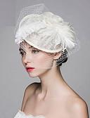 ราคาถูก หมวกสตรี-สำหรับผู้หญิง Kentucky Derby ปาร์ตี้ ผ้า สีพื้น