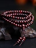 billige Slips og sløyfer-Herre Perlearmbånd Sjal Armbånd Perler Multi Layer Enkel Vintage Tre Armbånd Smykker Svart / Gul / Rød Til Daglig Gate