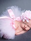 זול ילדים כובעים ומצחיות-מידה אחת סגול / כחול בהיר / כחול ים אביזרי שיער אקריליק פפיון / סגנון פרחוני מנוקד בסיסי / מתוק בנות תינוק