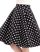 זול חצאיות לנשים-מנוקד - חצאיות כותנה נדנדה וינטאג' בגדי ריקוד נשים שחור L XL XXL