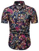 billige Herreskjorter-Klassisk krage Store størrelser Skjorte Herre - Geometrisk, Trykt mønster Regnbue