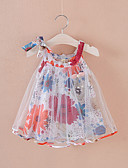 זול שמלות לתינוקות-שמלה מעל הברך ללא שרוולים פרחוני בוהו בנות תִינוֹק / פעוטות