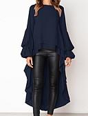 Χαμηλού Κόστους Γυναικεία Φορέματα-Γυναικεία T-shirt Μονόχρωμο Λεπτό Μαύρο