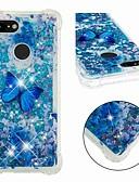 ราคาถูก เคสสำหรับ iPhone-Case สำหรับ Google Google Pixel 3 / Google Pixel 3 XL Shockproof / Flowing Liquid / Transparent ปกหลัง Butterfly / Glitter Shine Soft TPU