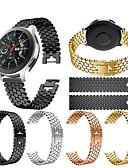 Χαμηλού Κόστους Smartwatch Bands-Παρακολουθήστε Band για Gear S3 Frontier / Gear S3 Classic / Samsung Galaxy Watch 46 Samsung Galaxy Αθλητικό Μπρασελέ / Σχεδιασμός κοσμημάτων Ανοξείδωτο Ατσάλι Λουράκι Καρπού