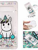 ราคาถูก เคสสำหรับโทรศัพท์มือถือ-Case สำหรับ Samsung Galaxy S9 / S9 Plus / S8 Plus Flowing Liquid / Pattern / Glitter Shine ปกหลัง Unicorn / Glitter Shine Soft TPU