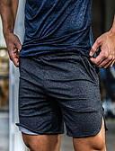 זול טישרטים לגופיות לגברים-בגדי ריקוד גברים ספורטיבי / בסיסי שורטים מכנסיים - אחיד שחור אפור כהה אפור בהיר XXL XXXL XXXXL