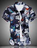 זול חולצות לגברים-גיאומטרי רזה מידות גדולות חולצה - בגדי ריקוד גברים קשת