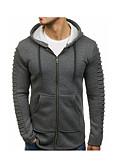 billiga Huvtröjor och sweatshirts till herrar-Herr Ledigt Huvtröja - Enfärgad