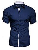 billige Skjorter-Store størrelser Skjorte Herre - Ensfarget Grunnleggende Rød / Kortermet
