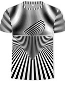 billige Herreskjorter-T-skjorte Herre - Geometrisk / Fargeblokk / Grafisk, Trykt mønster Gatemote / Punk & Gotisk Svart