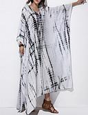 זול שמלות מקסי-צווארון V מקסי קפלים פרחוני, קולור בלוק - שמלה נדן רזה בגדי ריקוד נשים