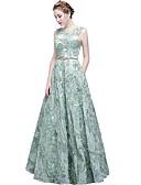 ราคาถูก Special Occasion Dresses-A-line อัญมณี ลากพื้น Tulle แต่งตัว กับ ปักลายปัก โดย LAN TING Express