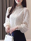 povoljno Nježna čipka-Bluza Žene Jednobojni Dusty Rose Obala
