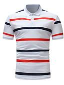 povoljno Muške polo majice-Polo Muškarci Pamuk Prugasti uzorak Kragna košulje Obala