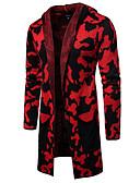 baratos Suéteres & Cardigans Masculinos-Homens Leopardo Carregam Camisola Jumper Outono / Inverno Cinza Claro / Verde Tropa / Vermelho M / L / XL