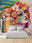 baratos Camisetas Femininas-papel de parede / Mural / Pano de parede Tela de pintura Revestimento de paredes - adesivo necessário Art Deco / 3D / Anjo
