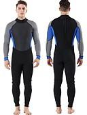 ราคาถูก ชุดดำน้ำ-สำหรับผู้ชาย Wetsuits เต็ม 3mm SBR Neoprene ชุดดำน้ำ กันลม ออกแบบตามสรีระ ซึ่งยืดหยุ่น แขนยาว ซิปหลัง สีพื้น ฤดูใบไม้ร่วง ฤดูใบไม้ผลิ ฤดูร้อน
