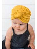 baratos Infantil Capéus e Bonés-Bébé Para Meninas Básico / Doce Sólido Linho Capéus e Bonés Cinzento / Roxo / Amarelo Tamanho Único
