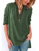 ราคาถูก เสื้อเอวลอยสำหรับผู้หญิง-สำหรับผู้หญิง เสื้อสตรี คอวี สีพื้น สีบานเย็น