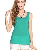 ราคาถูก เสื้อผู้หญิง-สำหรับผู้หญิง เสื้อกล้าม สาย เพรียวบาง สีพื้น Dusty Rose สีฟ้า