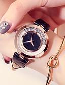 ราคาถูก เข็มขัดแฟชั่น-สำหรับผู้หญิง นาฬิกาข้อมือ นาฬิกาอิเล็กทรอนิกส์ (Quartz) หนัง ดำ / สีขาว / แดง 30 m กันน้ำ เลียนแบบเพชร ระบบอนาล็อก วินเทจ แฟชั่น - สีม่วง แดง สีชมพู