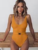 Χαμηλού Κόστους One-piece swimsuits-Γυναικεία Πορτοκαλί Ρουμπίνι Μπεζ Προκλητικό Ένα κομμάτι Μαγιό - Μονόχρωμο Τ M L Πορτοκαλί