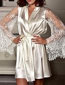 billiga Cocktailklänningar-Normal Polyester Behå- och trosset Sexig Enfärgad Bröllop Spets