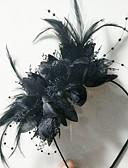 ราคาถูก เครื่องประดับ-ผ้า / โลหะผสม headbands กับ ขนนก / ดอกไม้ 1 ชิ้น โอกาสพิเศษ / สวมใส่ทุกวัน หูฟัง