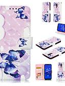 baratos Capinhas para Huawei-Capinha Para Huawei Huawei Honor 10 / Huawei Honor 9 Lite / Huawei Honor 8X Carteira / Porta-Cartão / Com Suporte Capa Proteção Completa Borboleta Rígida PU Leather