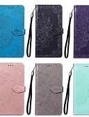 baratos Capinhas para Xiaomi-Capinha Para Xiaomi Nota do Redmi 7 Carteira / Porta-Cartão / Com Suporte Capa Proteção Completa Mandala Rígida PU Leather