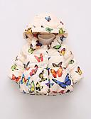 olcso Lány dzsekik és kabátok-Kisgyermek Lány Alap Pillangó Nyomtatott Szokványos Toll és pamuttal bélelt Arcpír rózsaszín