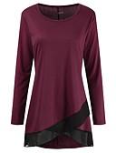 billige T-skjorter til damer-Tynn Store størrelser T-skjorte Dame - Ensfarget Blå
