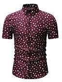 povoljno Muške košulje-Majica Muškarci Na točkice Klasični ovratnik Print Obala