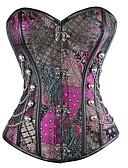 Χαμηλού Κόστους Φορέματα κοκτέιλ-Γυναικεία Κορσές Πάνω στο Στήθος Φούστες - Πολύχρωμο / Sexy / Πανκ Πεπαλαιωμένο Στυλ / Κομψό Ουράνιο Τόξο L XL XXL