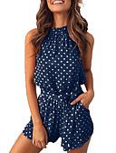 זול סרבלים ואוברולים לנשים-M L XL מנוקד, Rompers רגל רחבה כחול נייבי אפור יין בסיסי בגדי ריקוד נשים