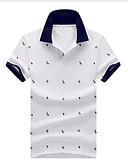 ราคาถูก เสื้อโปโลสำหรับผู้ชาย-สำหรับผู้ชาย ขนาดของยุโรป / อเมริกา Polo ฝ้าย เพรียวบาง ลายจุด ขาว