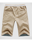 זול שמלות לבנות-בגדי ריקוד גברים בסיסי שורטים מכנסיים - אחיד כחול נייבי כחול בהיר חאקי XXXL XXXXL XXXXXL