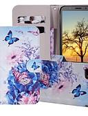 baratos Capinhas para Huawei-Capinha Para Huawei Huawei Nova 3i / Huawei Nova 4 / Huawei Honor 10 Carteira / Porta-Cartão / Com Suporte Capa Proteção Completa Borboleta / Flor Rígida PU Leather