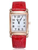 baratos Relógios de quartzo-Mulheres Relógios de Quartzo Fashion Elegante Preta Branco Vermelho Couro PU Quartzo Branco Preto Vermelho Relógio Casual 1 Pça. Analógico Um ano Ciclo de Vida da Bateria / Aço Inoxidável