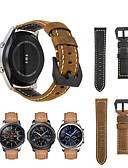 Χαμηλού Κόστους Smartwatch Bands-Παρακολουθήστε Band για Gear S3 Frontier / Gear S3 Classic / Samsung Galaxy Watch 46 Samsung Galaxy Αθλητικό Μπρασελέ Γνήσιο δέρμα Λουράκι Καρπού