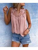 povoljno Majica s rukavima-Bluza Žene Jednobojni V izrez Širok kroj, Kolaž Dusty Rose Svjetloplav