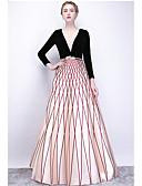 Χαμηλού Κόστους Βραδινά Φορέματα-Γραμμή Α Με Κόσμημα Μακρύ Σατέν Κομψό Επίσημο Βραδινό Φόρεμα 2020 με Ζώνη / Κορδέλα