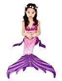 ราคาถูก คอสเพลย์ชุดว่ายน้ำ-คอสเพลย์และคอสตูม ชุดว่ายน้ำ บีกีนี่ The Little Mermaid หางนางเงือก Aqua Princess สำหรับเด็ก Lycra® คอสเพลย์และคอสตูม Mermaid and Trumpet Gown Slip คอสเพลย์ สีม่วง เงือก / Top