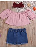 olcso Női ruhák-Baba Lány Alap Színes Hosszú ujj Rövid Ruházat szett Arcpír rózsaszín