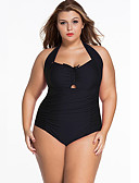 ราคาถูก หมวกสตรี-สำหรับผู้หญิง ชุดว่ายน้ำ ชุดว่ายน้ำ เสื้อไม่มีแขน การว่ายน้ำ กีฬาทางน้ำ สีพื้น การทาสี ฤดูร้อน / ยืด