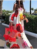זול שמלות מקסי-כתפיה מקסי שמלה סווינג בגדי ריקוד נשים