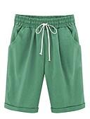 ราคาถูก กางเกงขาสั้น-สำหรับผู้หญิง Sporty / Street Chic ขนาดพิเศษ กางเกงขาสั้น กางเกง - สีพื้น Dusty Rose ฝ้าย สีเหลือง สีฟ้า สีกากี XXXXL XXXXXL XXXXXXL